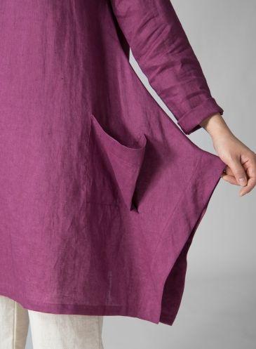 PLUS Clothing - Linen Long Sleeve Top