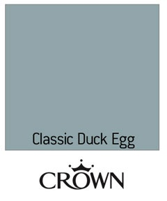 Duck egg blue paint - nice idea for a duck-themed nursery. And it fits with the color scheme in the rest of the house!