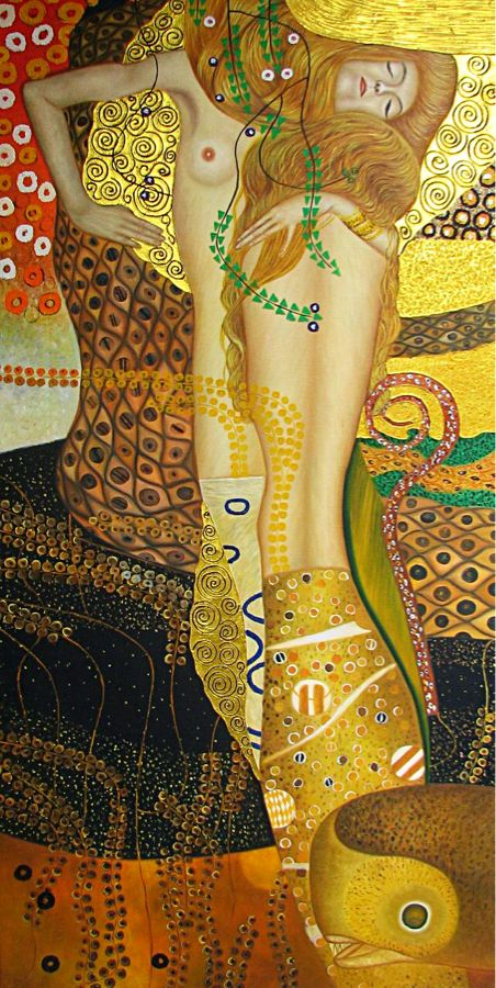 Gustav Klimt, Water Serpents I (Wasserschlangen I)  on ArtStack #gustav-klimt #art