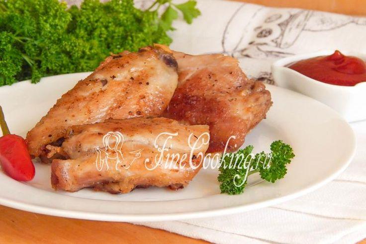 Жареная курица на сковороде - рецепт с фото