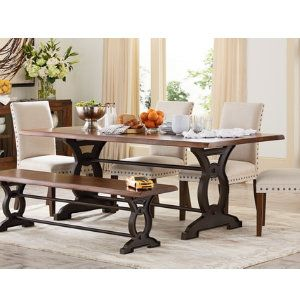 Natural loft dining table casual dining dining rooms for Casual dining room table centerpieces
