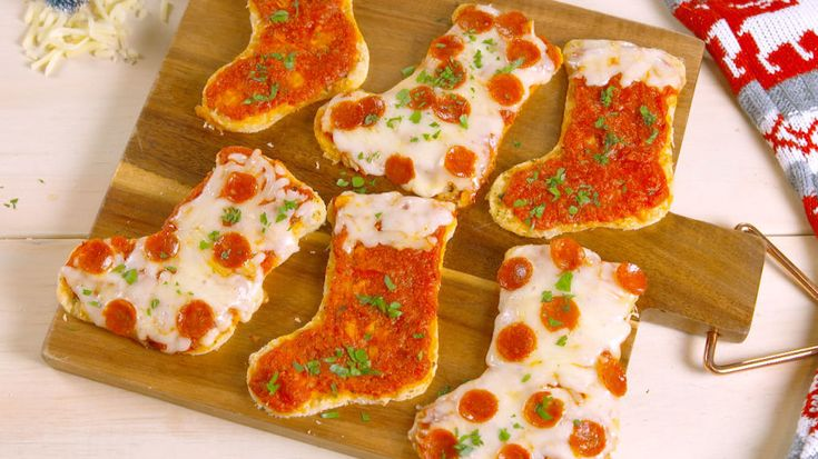 The Best Use Of Your Christmas Cookie Cutters: Pizza Stockings  - Delish.com