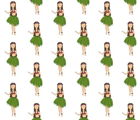 hulagirl fabric by lindsey_hopkins on Spoonflower - custom fabric