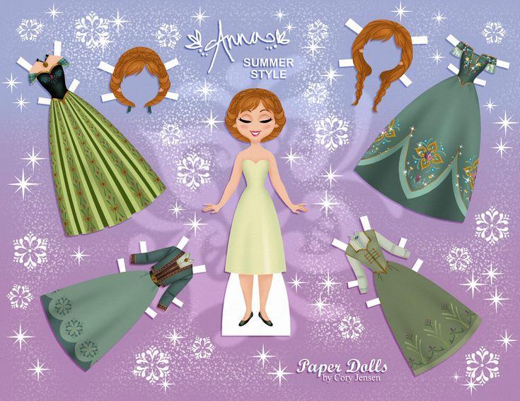 (⑅ ॣ•͈ᴗ•͈ ॣ) ✄Anna Disney's Frozen Paper Dolls | SKGaleana