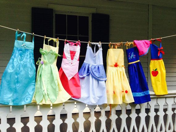 LOVE THESE!!  Beautiful Princess Aprons - Dress Up Aprons by ForeverSweetPeas on Etsy, $35.00