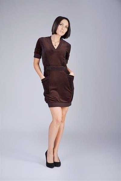 Домашняя одежда велюровое платье