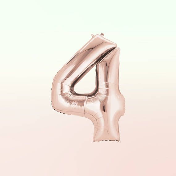 40 ROSE GOLD Number Balloon  40 Inch Rose Gold Balloon