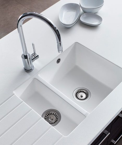 Corian Bathroom Sinks And Countertops: Encore One And A Half Bowl White Acrylic Moulded