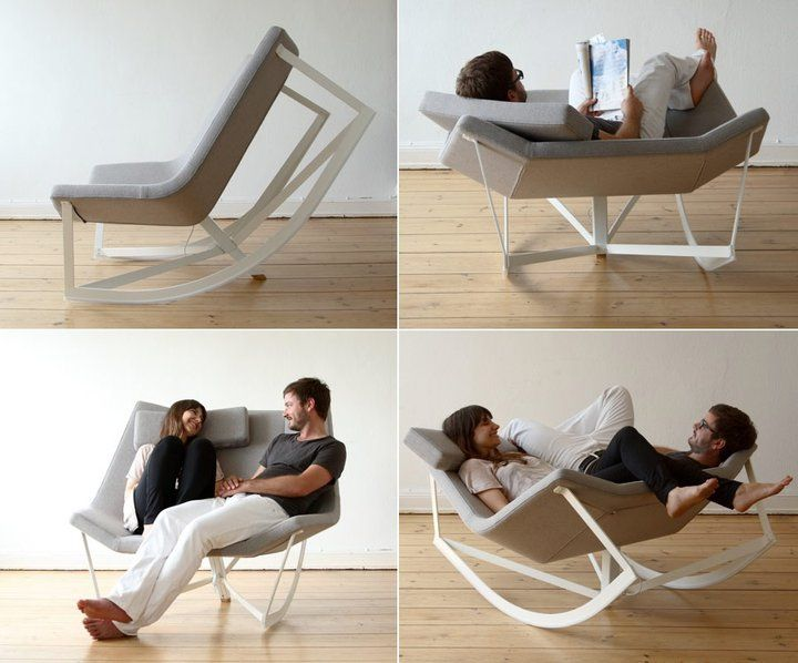 A chair/rocking chair with double the fun. Wonder if you could make something like this?