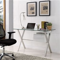 this glass top executive home office desk from modway is perfect for office remodeling projects