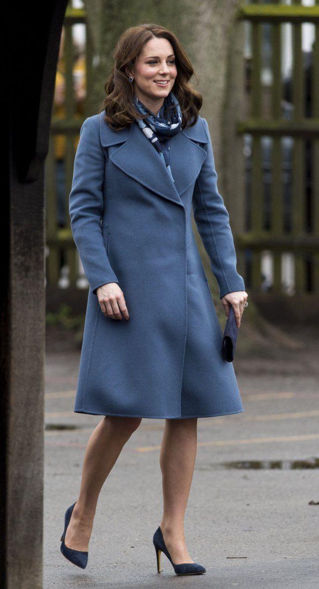Catherine, Duchess of Cambridge in Sportmax visits Roe Green Junior School in London. #bestdressed