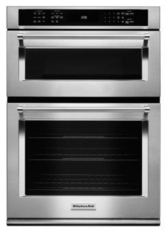 "Learn about features and specifications for the KitchenAid® 30"" Combination Wall Oven with Even-Heat™  True Convection (Lower Oven) (KOCE500ESS)"