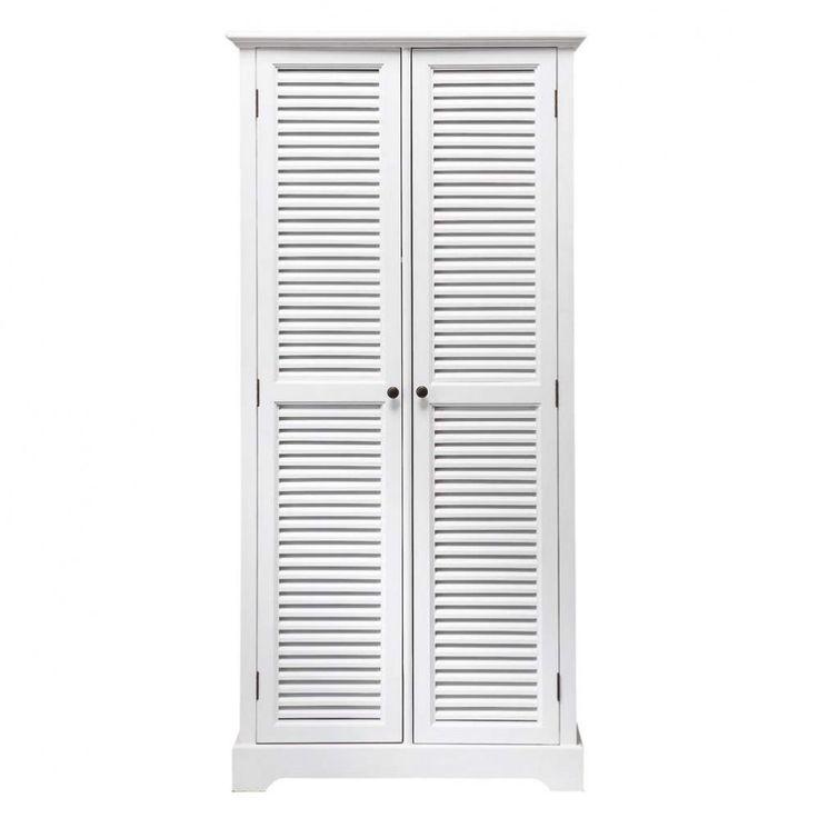 Guardaroba bianco in legno L 86 cm
