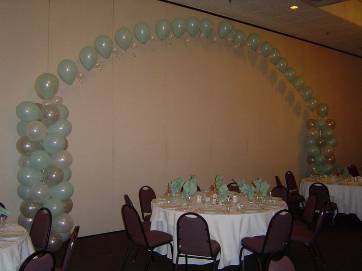 Quinceanera balloon decorations mint mint pink and for Balloon decoration ideas for quinceaneras