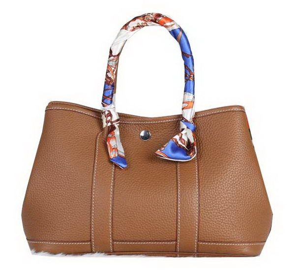 Hermes Garden Party 30cm Tote Bag Grainy Leather Wheat - $289.00