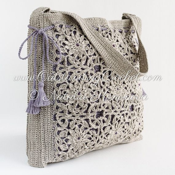 Crochet Bag Pattern Shoulder Drawstring by OutstandingCrochet