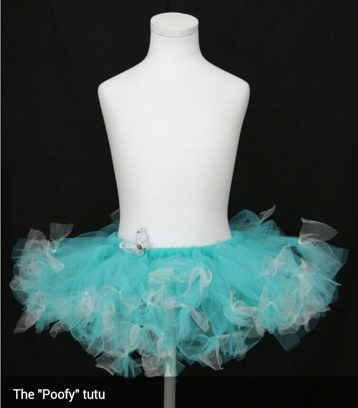 Soft turquoise poofy tutu, with accents of white and silver glitter tulle.