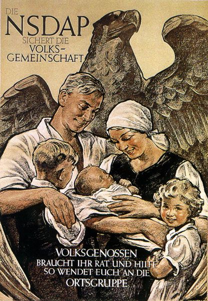 German Family the National Socialists supported families with low to no interest loans to buy homes or farms. After years of inflation price controls came in effect.