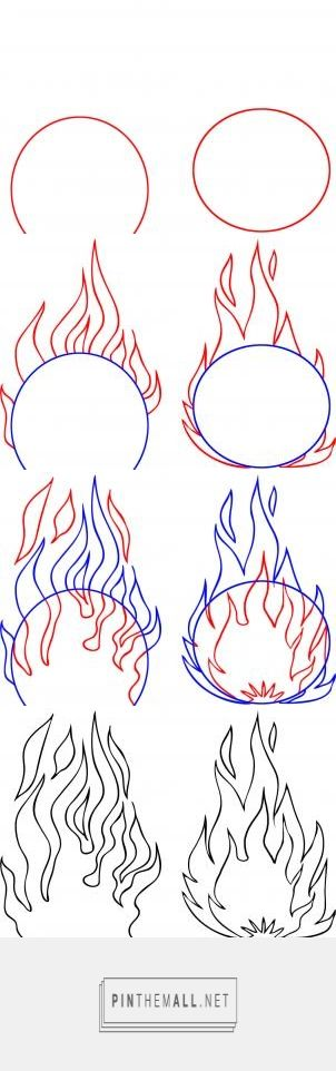 How to Draw Flames, Step by Step, Stuff, Pop Culture, FREE Online Drawing Tutorial, Added by Dawn, September 29, 2009, 4:22:19 pm - created via http://pinthemall.net