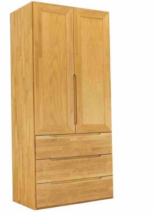Popular Kleiderschrank aus Massivholz t rig mit Schubk sten