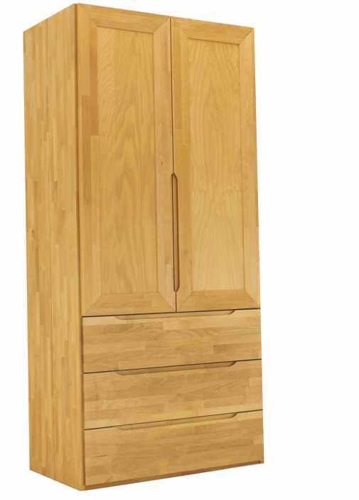 Cool Kleiderschrank aus Massivholz t rig mit Schubk sten