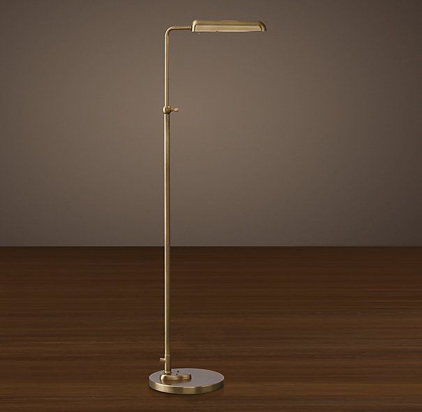 1930s parisian task floor lamp