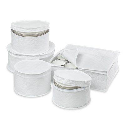Honey Can Do SFT-01630 Five Piece Dinnerware Storage Set