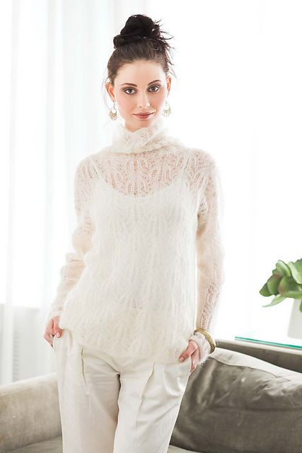 Ravelry: #01 Lace Turtleneck pattern by Yoko Hatta (風工房)                                                                                                                                                                                 More