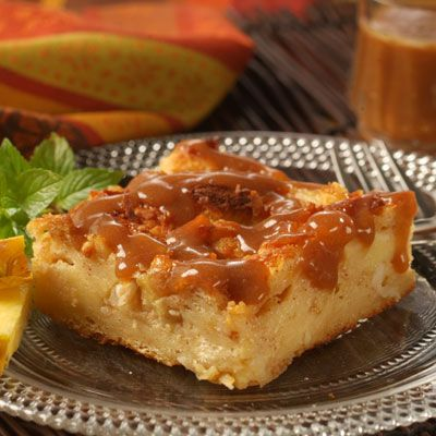 This scrumptious bread pudding is brimming with tropical flavors associated with  Costa Rica.  Pineapple, coconut and macadamia nuts are baked in a spiced custard and served with a warm, dark rum sauce.   Unlike other bread puddings, this dish is baked immediately after assembling.