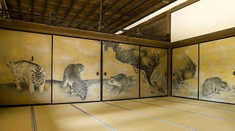 金刀比羅宮 - 虎之間 Konpira Shrine, Tiger room
