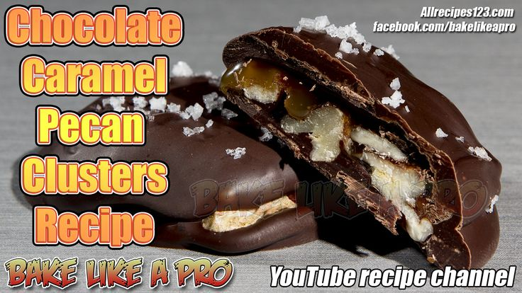 Easy Dark Chocolate Caramel Pecan Clusters Recipe  CLICK IMAGE TO GO TO VIDEO