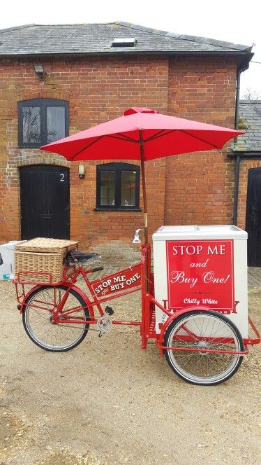Red Pashley Ice Cream Tricycle