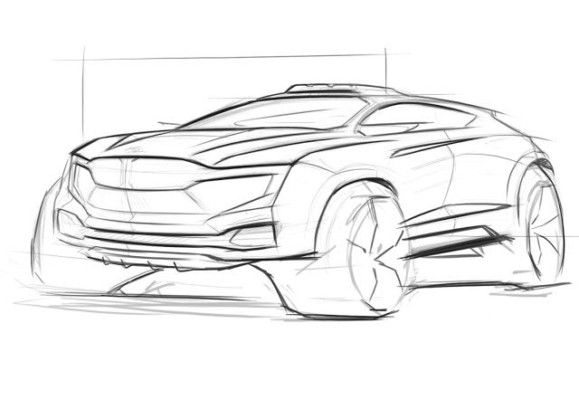 Sangjae: car sketch bmw suv