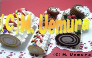 quilling cake (A) Fruit Roll cake (8cm lunghezza die ...) (B) Bush de Noel (9cm Lunghezza die ...) (C) rotolo di torta di frutta (5cm lunghezza piccolo ...) (D) Bush de Noel (6 cm lunghezza grande ...)
