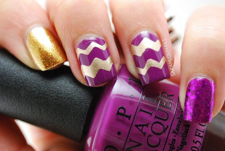 70 Ideas para pintar o decorar uñas color Púrpura - Purple nails - http://xn--decorandouas-jhb.com/70-ideas-para-pintar-o-decorar-unas-color-purpura/