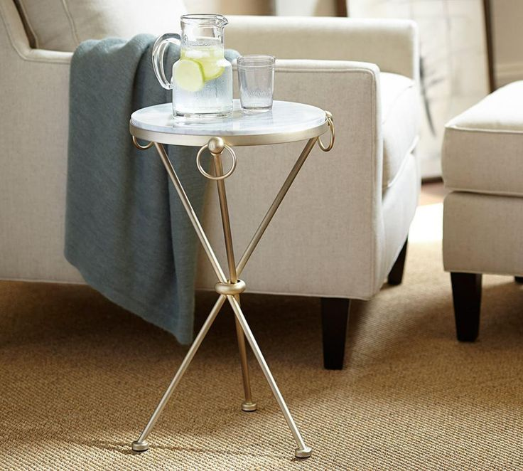 Leila Marble-Top Side Table | Pottery Barn AU
