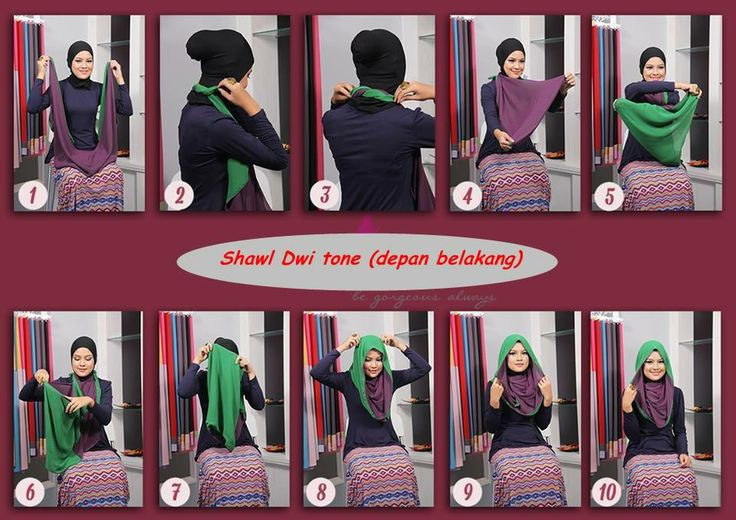 #shawl #hijab #tutorial easy and beautiful!