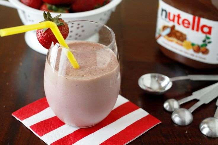Nutella and strawberry smoothie