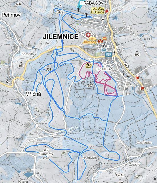 Lyžařská turistická trasa Buď fit – Jilemnice