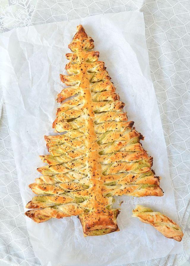 Pesto Roomkaas Bladerdeeg Kerstboom Laura S Bakery Kerstdiner Recepten Voedsel Ideeen Eten En Drinken
