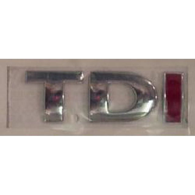 OEM European VW TDI badge with red I - Parts4Euro.com