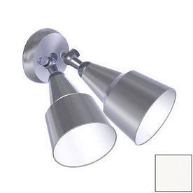 Remcraft Lighting Swedish Modern White Outdoor Flush Mount Light 2062