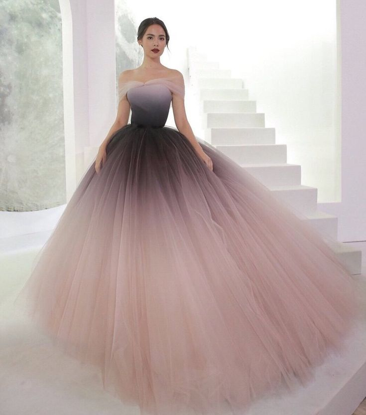 Off-the-shoulder Ombre Promenade Clothes Distinctive Promenade Gown Lengthy Night Clothes AMY1789