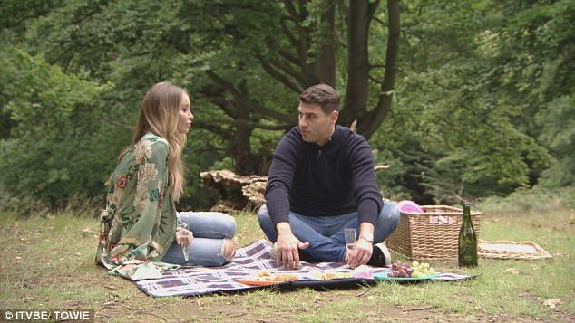 Picnic: Meanwhile Jon Clark treats Lauren Pope to a picnic, but she has something to say that may not be what he wants to hear