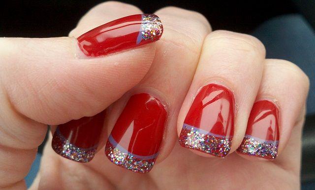 Uñas rojas sencillas - Easy red nails
