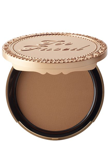 bronzer for pale girls contour Too Faced Chocolate Soleil Matte Bronzer in Medium/Deep or Fairest of the Fair, $30, available at Too Faced.
