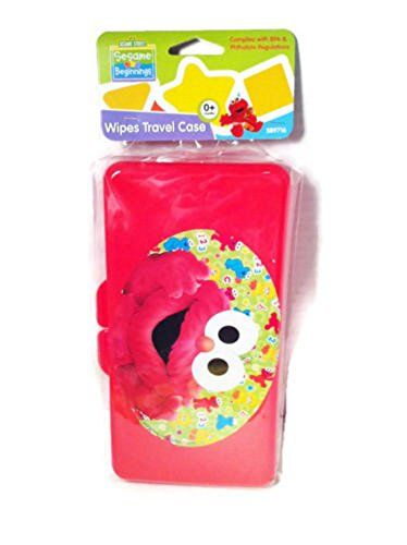 Diaper Wipes Travel Case Sesame Street (Red Elmo)  Sesame Street Beginnings wipes travel case BPA Phthalate Free (Wipes Not Included)  Adorable BABY WIPE TRAVEL CASE from SESAME BEGINNINGS Age 0 months and up  1 Pc Baby Diaper Wipes Empty Case Box Refillable Wet Wipes Container Travel Bag Stroller  Perfect to take with you to the park, party, traveling and its reusable and strong and maintain wipes wet  Handy: Keeps wipes on hand for quick access on the go.