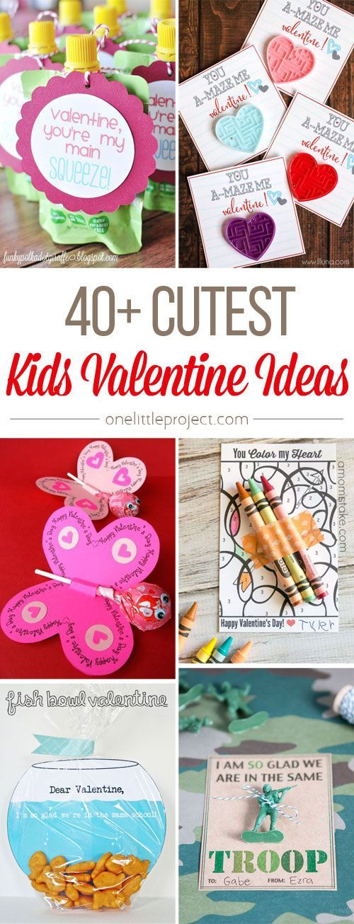 This list of cute Valentine ideas for kids is AWESOME! Seriously, aren't they adorable!? Lots of them have free printables, so they're really easy to make too!