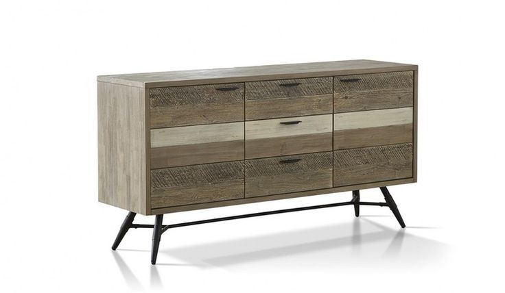 Modern Havana buffet with a chic inner city look. Designed in a unique weathered acacia raw finish.