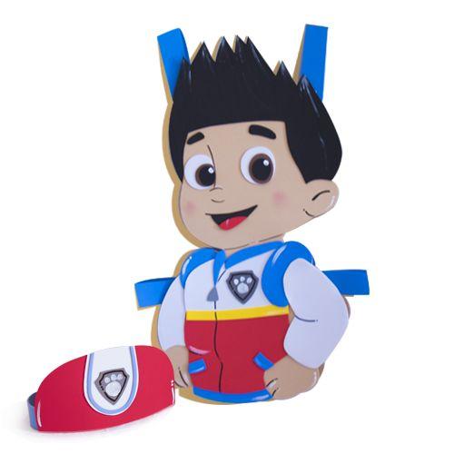 Disfraz de Ryderde goma eva, personaje de la serie de dibujos animados Patrulla Canina. (No es un producto oficial, nuestros disfraces son recreaciones del diseño original) Incluye la banda para l…